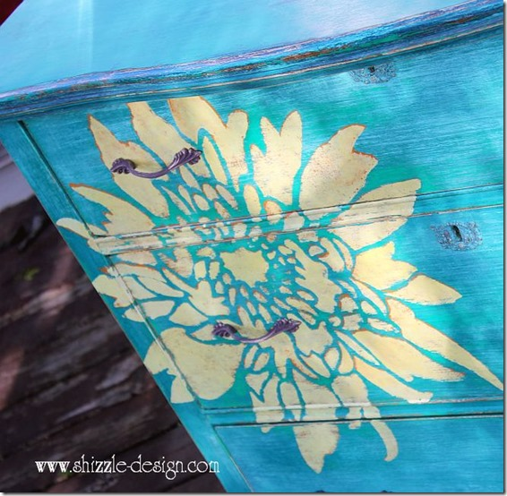 Hand painted furniture by Shizzle Design
