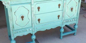Painting and Distressing Furniture – A Well-Deserved Buffet