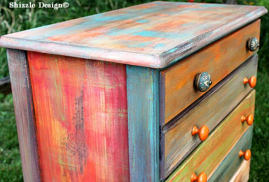 Beau Patchwork Painteddresser Shizzle Design Grand Rapids Michigan Chalk
