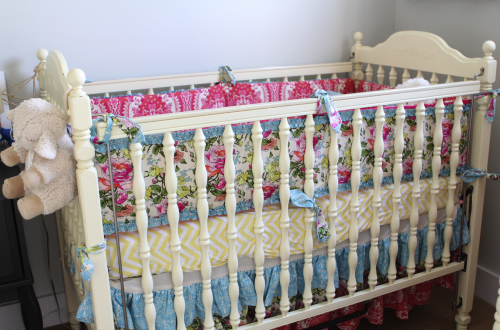 Heaven's Light was the perfect soft yellow for this crib