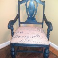 Chair finished in Freedom Road, Born on the 4th and Lincoln's Hat