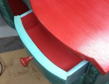 Painting Furniture – A Lovely Curvy Desk