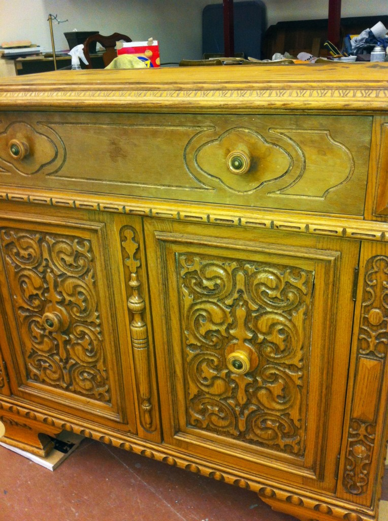 Painted Furniture Hand Carved Cabinet American Paint