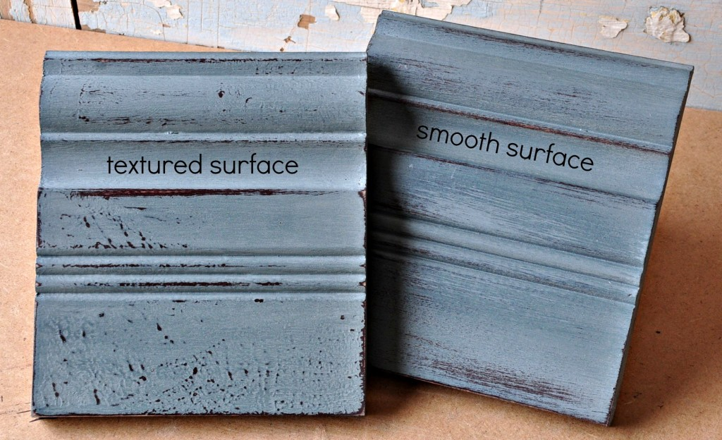 Hand painted textured and smooth surfaces