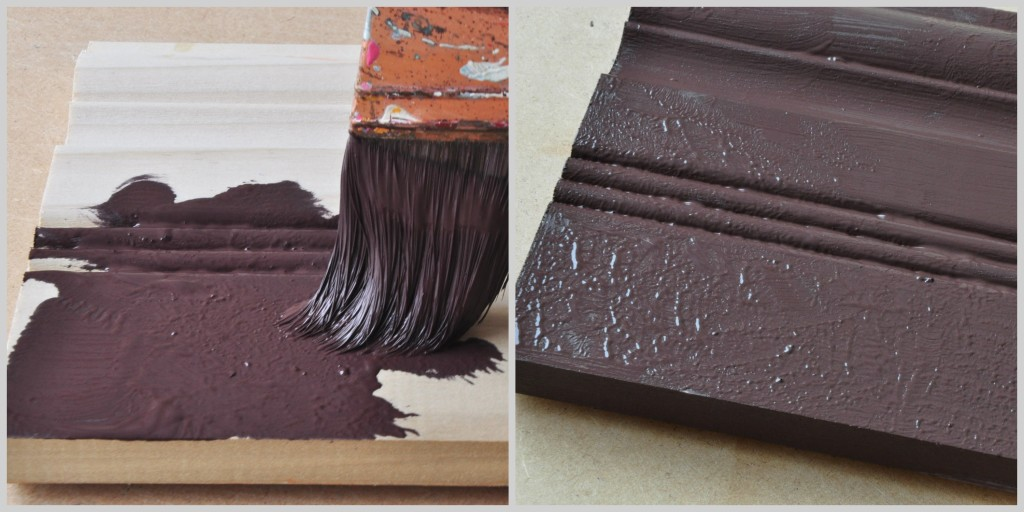 Creating a textured finish by applying the base coat using a pouncing technique.