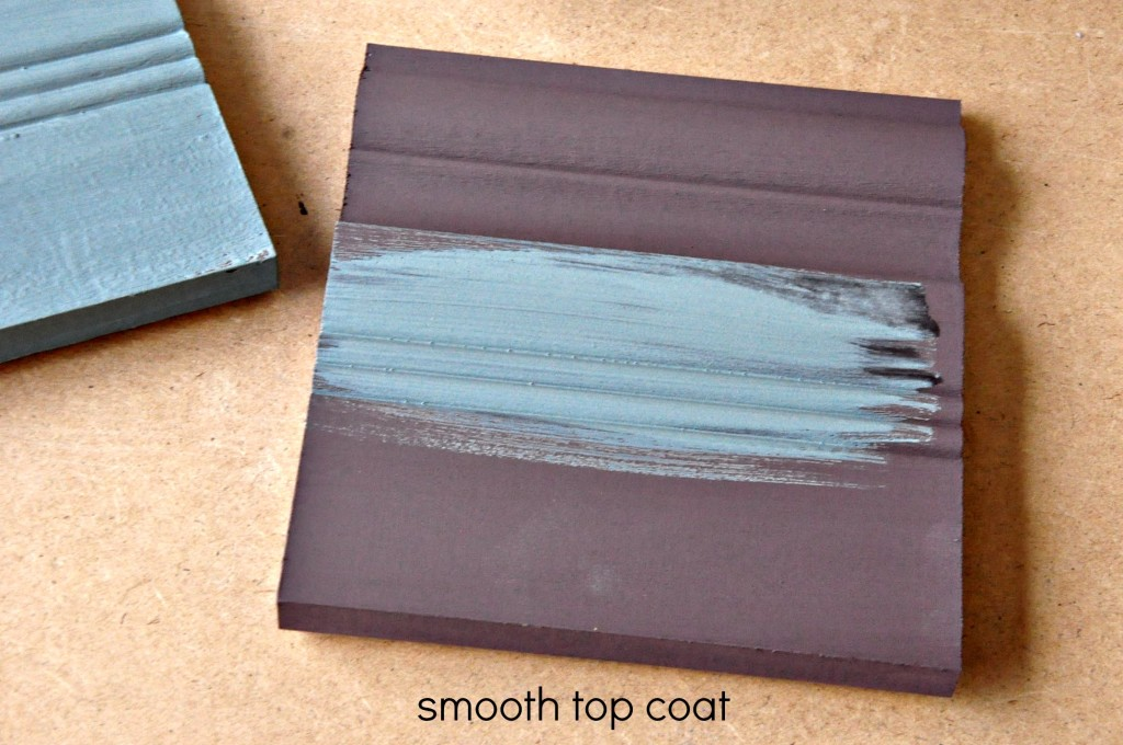 Apply the second coat (top coat) on in a smooth thin layer.