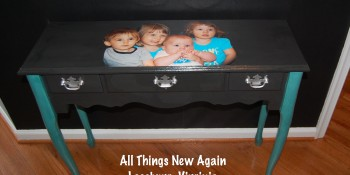 Decoupaging Furniture – Grandma's Table