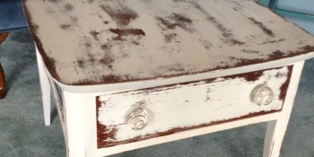 Painted Tables Using All Natural Chalk and Clay Paint