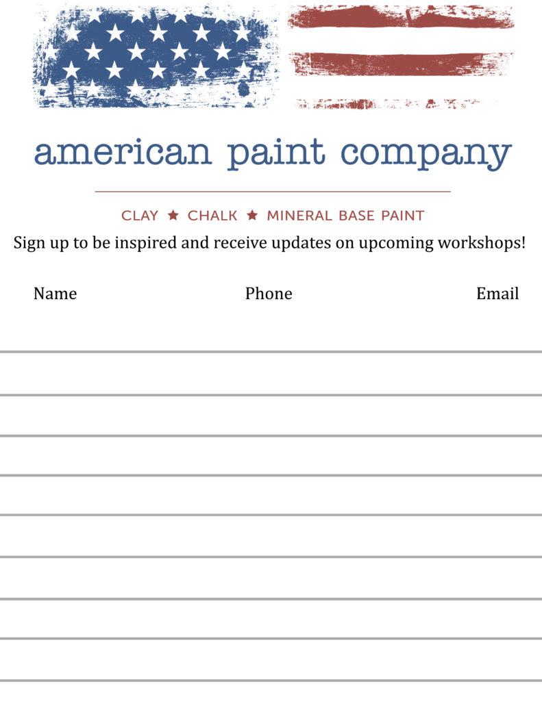 Sign up sheet US paper