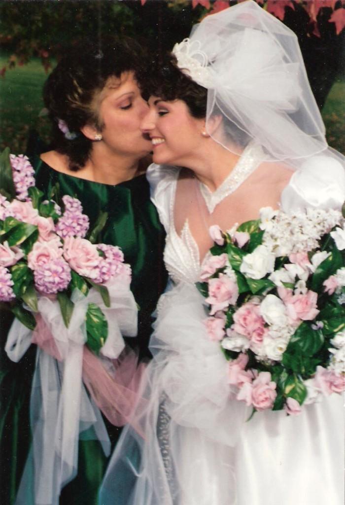 Liz and Maria. Wedding