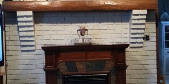 Painting a Brick Fireplace – From Drab to Fab