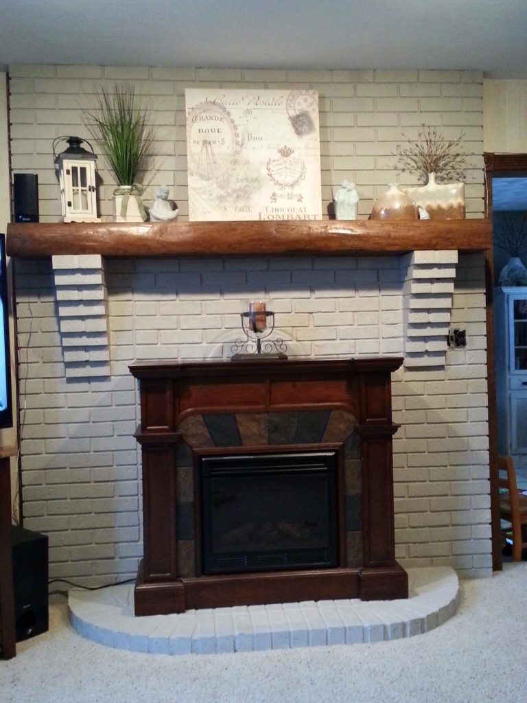 painting a brick fireplace from drab to fab american paint company