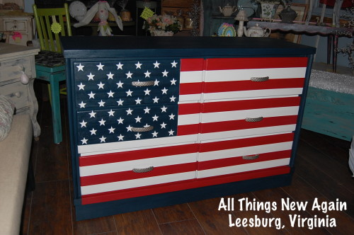 10. American Flag Dresser