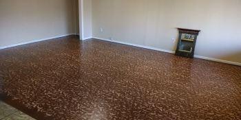 You can create a custom painted floor!