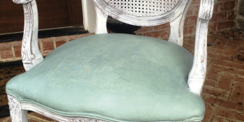 Can't Reupholster? Paint Your Fabric!