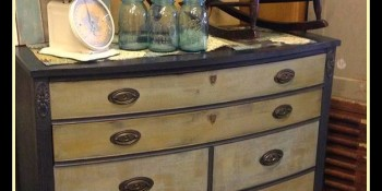 Stunning Antique Black Bow Front Highboy – Take Two!