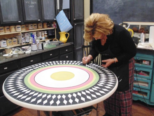 Kate Koch - Simply Beautiful Spaces - Hand painted table