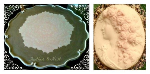 Feather & Nest pie crust table