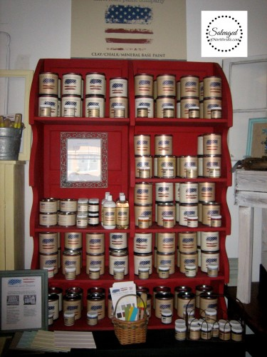 Salvaged - paint display case