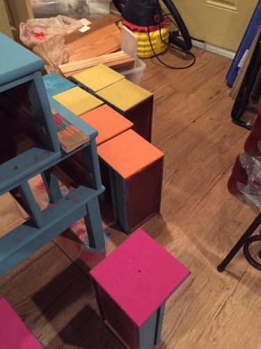 In process painted drawers