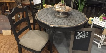 Repainting a Table, Chairs & Seat Cushions