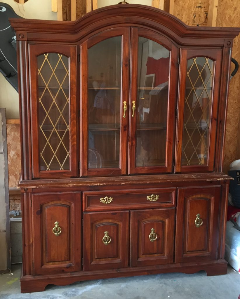 Cannon Ball with Clear Wax on a Hutch