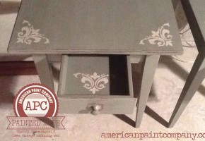 Chalk Painting Solid Cherry End Tables with American Paint Company