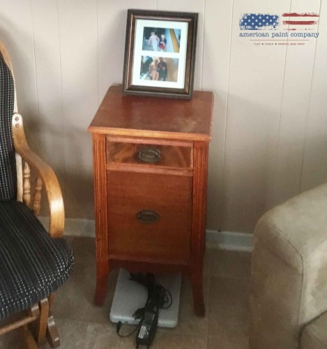 Vintage Antiquing Wax on a Side Table