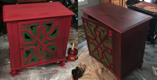 Look What Happens When You Add Black Glaze To Painted Furniture