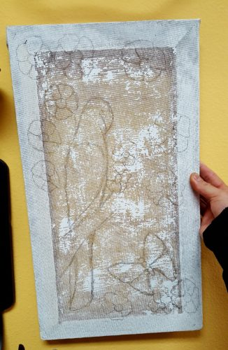 4 Steps to Screen Painting with Clay, Chalk and Mineral Paint