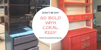 Coral Reef a bold red chalk paint color by american paint company