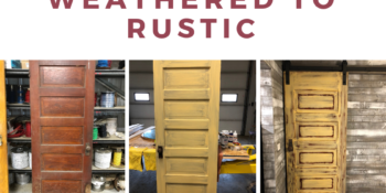 Transform Your Sliding Barn Door from Weathered to Rustic