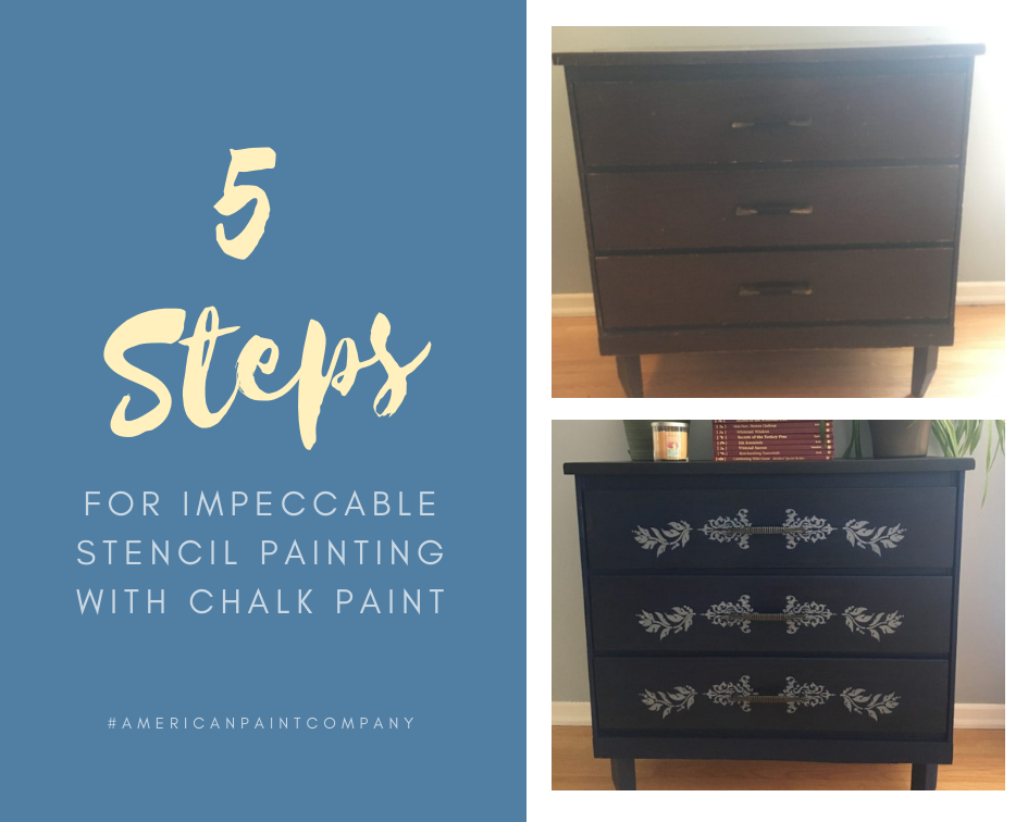 5 Steps for Impeccable Stencil Painting with Chalk Paint